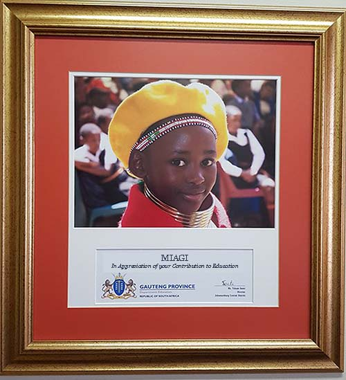 MIAGI in appreciation - from Gauteng Province