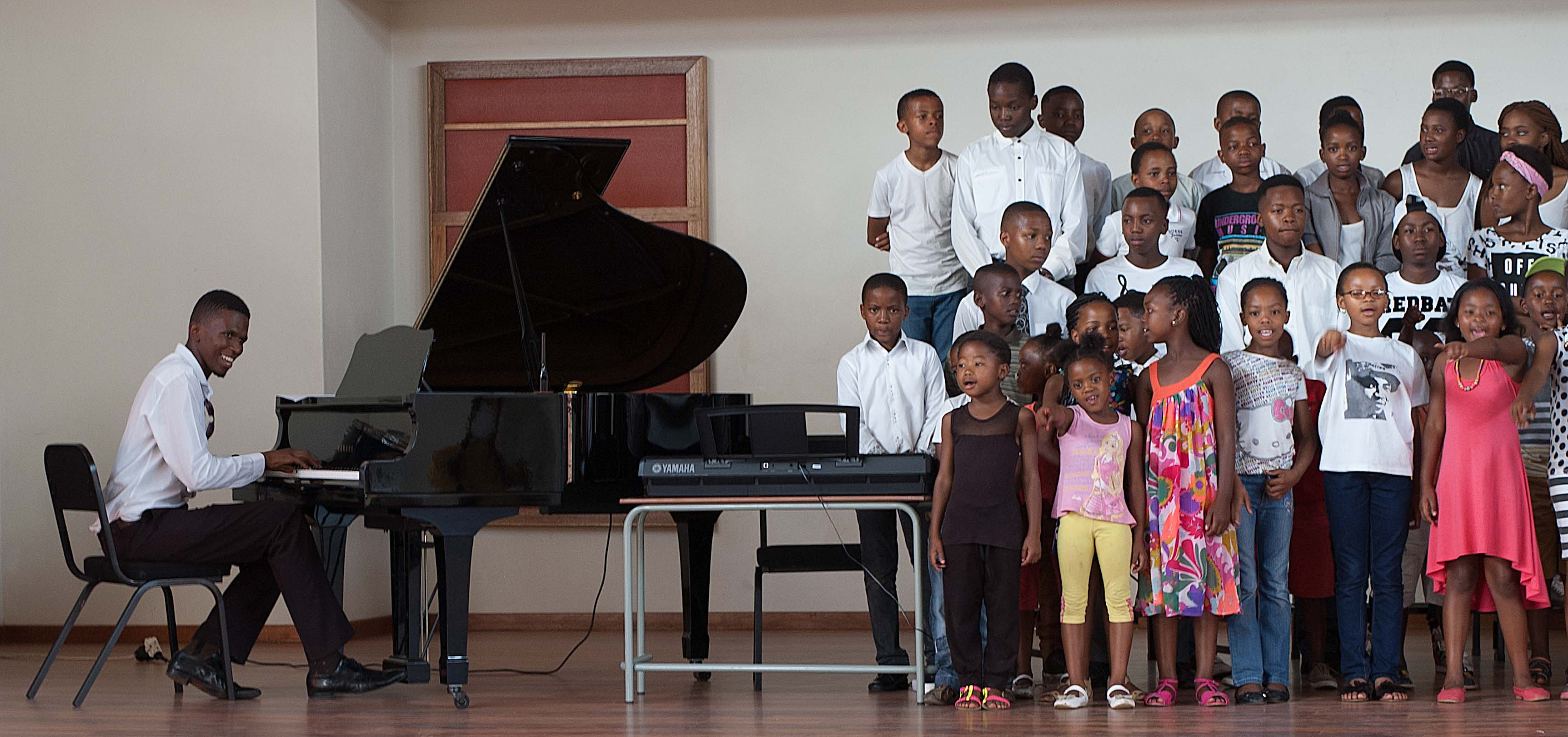 Grand Piano and Choir at Music Centre