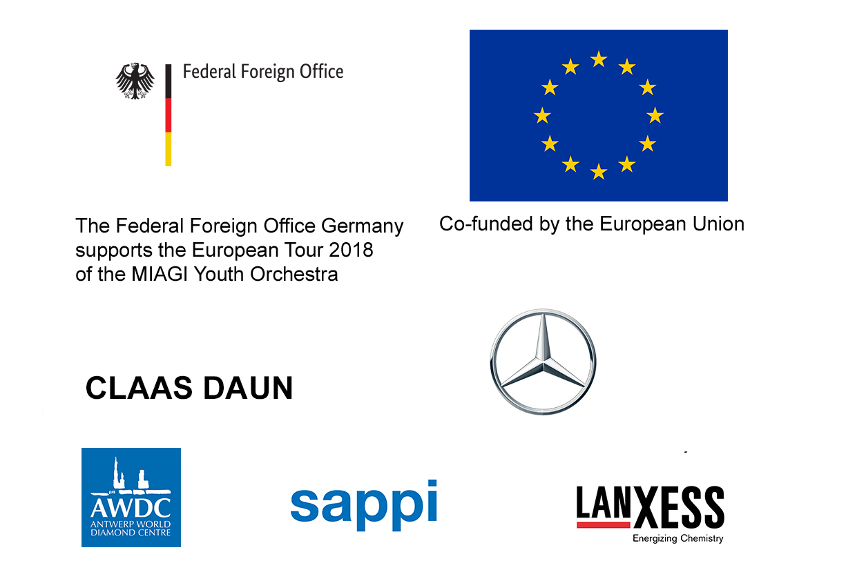 MIAGI Youth Orchestra Tour 2018 sponsors logo block