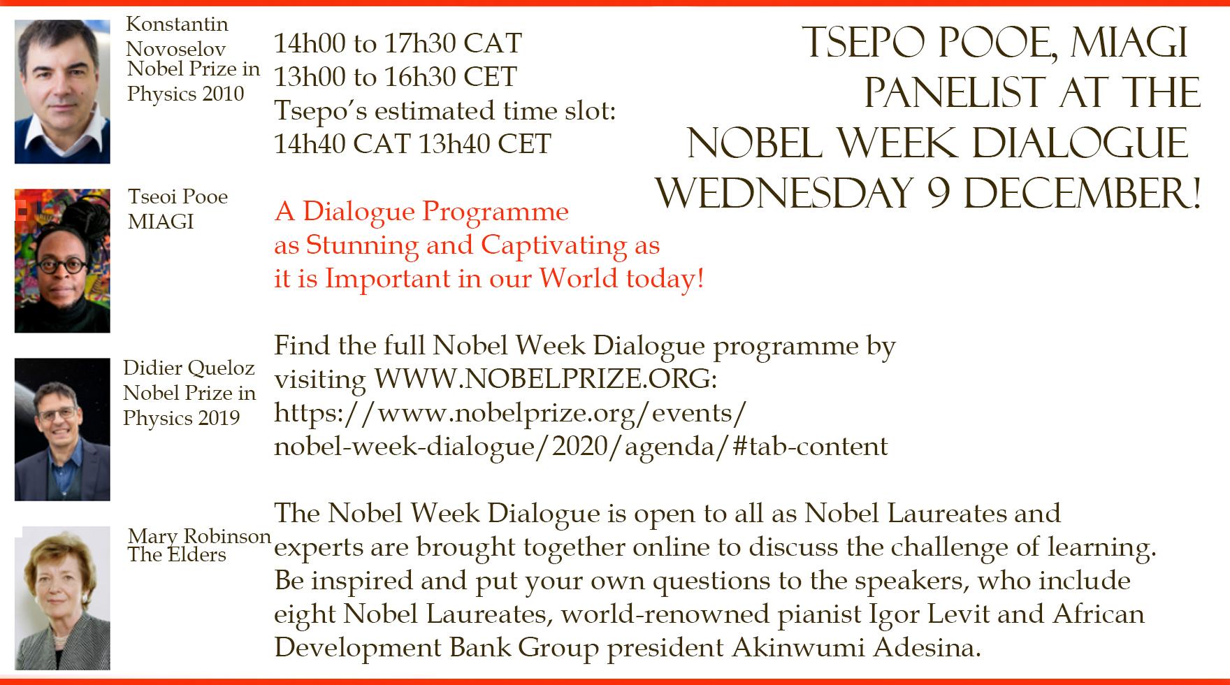 Tsepo at Nobel Week